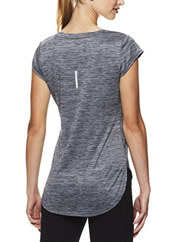 Reebok Women's Legend Performance Short Sleeve T-Shirt with Polyspan Fabric,Black Heather,X-Small by Reebok (Image #3)