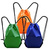 Ninonly - Beach Towel Drawstring Tote Backpack Outside Pocket Sack Packing Cinch Bag for Pool Swim Beach Camping Trip Birthday Party Favor Other Outdoor Activities (3 Pack)
