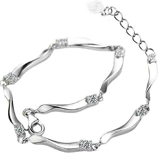 Mode  Élégant Charme Coeur Bracelet De Manchette Bracelet  Crystal