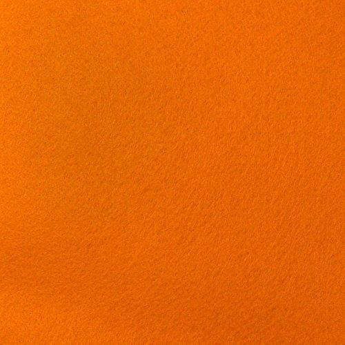 Orange Felt Fabric - by the Yard
