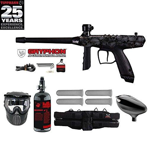 Tippmann Gryphon FX Starter HPA Paintball Gun Package - Skull
