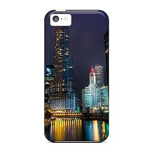 CaroleSignorile FNm41931eCvK Cases Covers Skin For Iphone 5c (beautiful City River In A Winter Night)