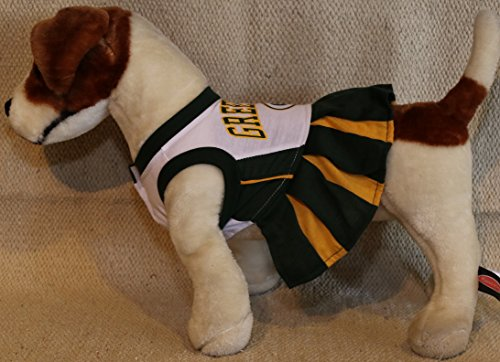 Nfl Cheerleaders Costumes (GREEN BAY PACKERS CHEERLEADER DOG DRESS OUTFIT ALL SIZES LICENSED NFL (XS))