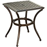 Oakland Living AZ3031-ET2020-AB Bali Indoor and Outdoor Aluminum End Table, One Size, Bronze