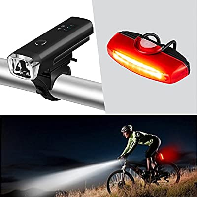 Portable USB Rechargeable Mountain Bike Bicycle Front Head Safety 3 LED Light GA