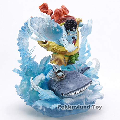 (JINZDUO Anime One Piece War-Damaged Jinbe Sun Pirates Gk Resin Statue Action Figure Collection Model Toy)