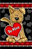 Be Mine Puppy Valentine's Day House Flag Love Hearts Dog Pet Banner 28