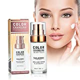 DAGEDA Foundation Cream, Hides Wrinkles & Lines Liquid Foundation, BB Cream, Fluid Foundation Color Changing Flawless, Moisturizing Liquid Cover Concealer and Universal Shade for All Skin Types