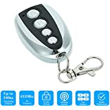 OWSOO Touch Switch Copying Transmitter Cloning Duplicator 433MHz 4 Buttons Garage Opener Electric Garage Door Remote Control Key Fob