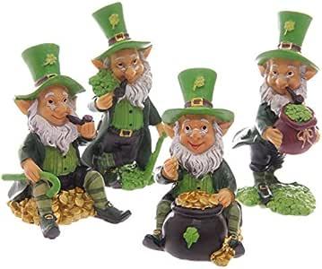 Juego de cuatro Lucky Leprechaun irlandés figuras 9 - 11