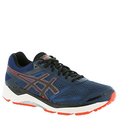 ASICS Men's Gel-Foundation 12 Running Shoe - Color: Insignia Blue/Black/Cherry (Regular Width) - Size: 10 ()