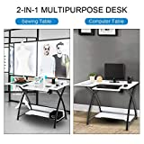 TUFFIOM 46-Inch Sewing Craft Table, Specialized