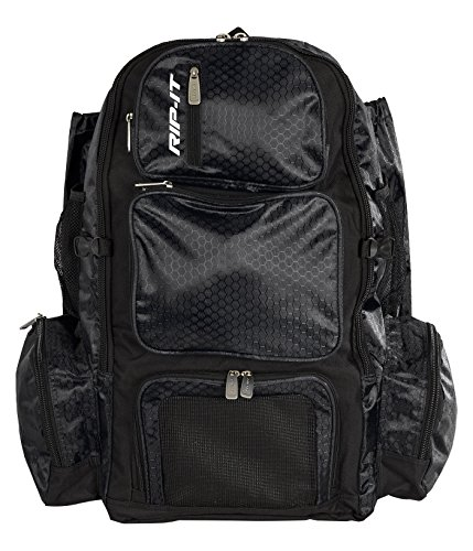 RIP-IT Pack It Up Backpack - Softball Equipment Bag - Black