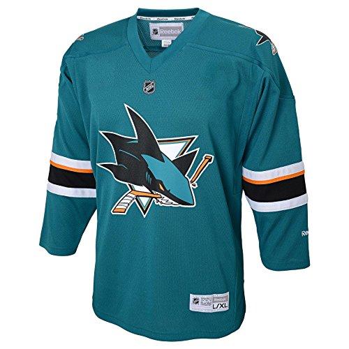 NHL San Jose Sharks Replica Youth Jersey, Teal, Large/X-Large