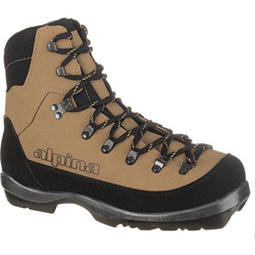 Alpina Sports Montana Backcountry Cross Country Nordic Ski Boots, Brown/Black, Euro 46