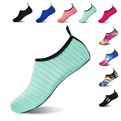 Schuhe Aquaschuhe Grün01 für Herren Badeschuhe Strandschuhe Schwimmschuhe Barfuß Wasserschuhe Damen Surfschuhe aPaxgwBH7q