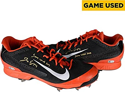 George Springer Houston Astros Autographed Orange and Black Game-Used Cleats with Game Used 2014 Inscription - Fanatics Authentic Certified