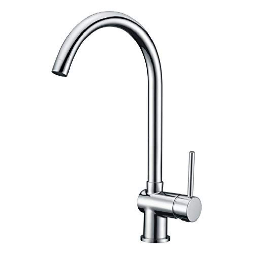 Kitchen Sink Mixer Tap Modern Kitchen Faucet With Single Lever Handle 360 Degree Swivel Spout Hot And Cold Water Monobloc Kitchen Tap Solid Brass Chrome With 3 8 Hose Buy Online In Papua