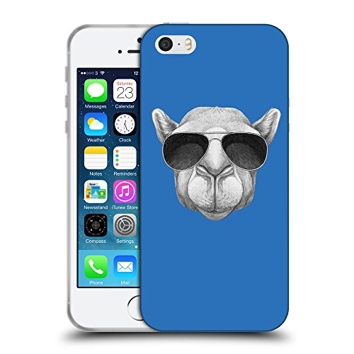 GoGoMobile Coque de Protection TPU Silicone Case pour // Q05460608 Chameau soleil Azur // Apple iPhone 5 5S 5G SE