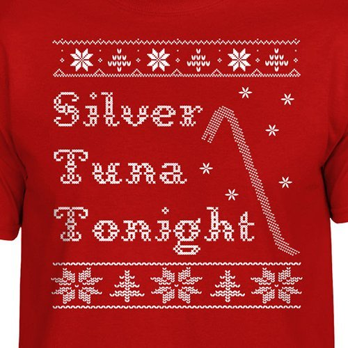 Home Alone T-Shirt Silver Tuna Tonight Funny Christmas Ugly Sweater Retro Movie Cross Stitch Retro by SundayBest