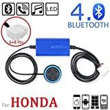APPS2Car Honda OEM Radio Bluetooth Phone and Music Adapter Connect By Cd Changer Port (Support Bluetooth Handsfree and Music Stramline) for Honda Fit Jazz Civic Accord Odyssey Pilot S2000 Element Ridgeline