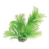 6cm Aquarium Plants Plastic Fish Tank Ornament - Green
