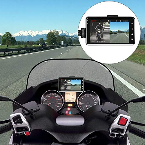 Star-Trade-Inc - Motorcycle Driving Recorder Locomotive Cycling Camera Separated Waterproof Dual Lens Camcorder 3.0 Inch - Locomotives Motors General