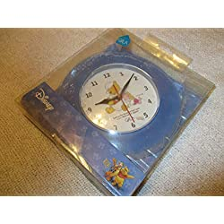 Winnie The Pooh Table or Wall Clock-Pooh in Pajamas & Piglet