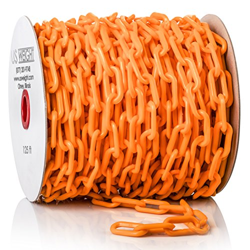 US Weight ChainBoss Plastic Chain – 125 Feet, Orange by US Weight