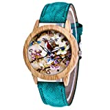 Best iXCC Watch Bands - Start Women's Flowers Dial Woodiness Case Leather B Review