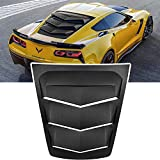 E-cowlboy Rear Window Louver Windshield Sun Shade Cover for 2014~2019 C7 Corvette (Stingray/Grand Sport / Z06 / Z51 / ZR1) in GT Lambo Style Custom Fit - All Weather (ABS Matte Black)