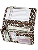 Zreal Server Book for Waitress, 5 X 9 Leopard Serving Books with Zipper Pouch, Magnetic Closure Pocket with High Volume, Cute Waitress Book Organizer with Money Pocket Fit Server Apron (Light Leopard)