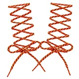 COOL LACE Round Athletic Shoelaces Shoe Laces for Sneakers (47.2', Orange Striped)