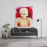 Society6 Wall Tapestry, Size Medium: 68'' x 80'', Jean Harlow, Movie Star by esotericaartagency