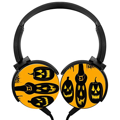 Wired 1.2 M Happy Halloween Day Stereo Universal Rotatable Headphones -