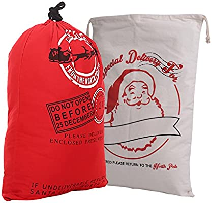 Amazon.com: Santa Claus regalo saco, gigante – Bolsas para ...