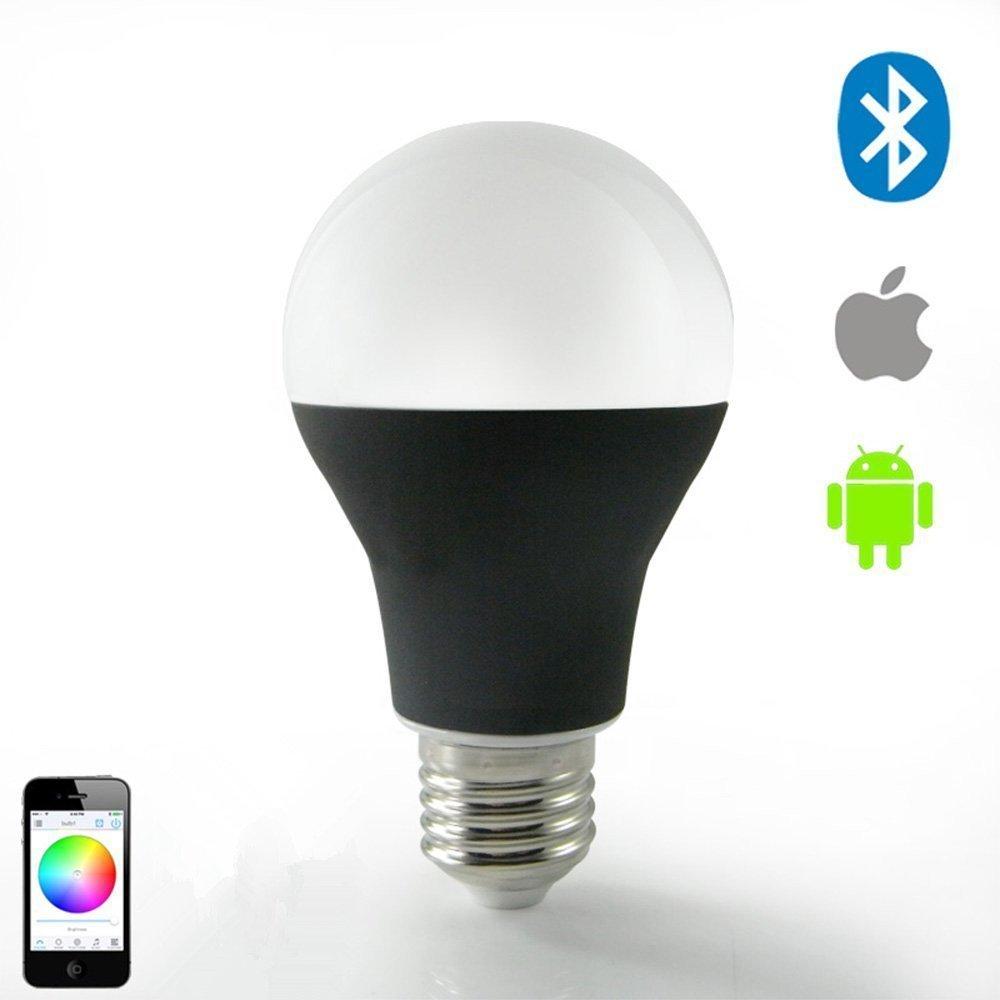 black ChiChinlighting Smart LED Bluetooth Light Bulb E26 E27 Dimmable Multicolored Color Changing Smart LED BULB 7w B15C05
