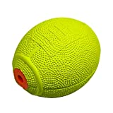 LaRoo Dog Toy, Dog Squeeze Ball Pets Dog Toy Natural Rubber Rugby Design Dog Ball Sound Dogs, Cats Pets (Lemon)