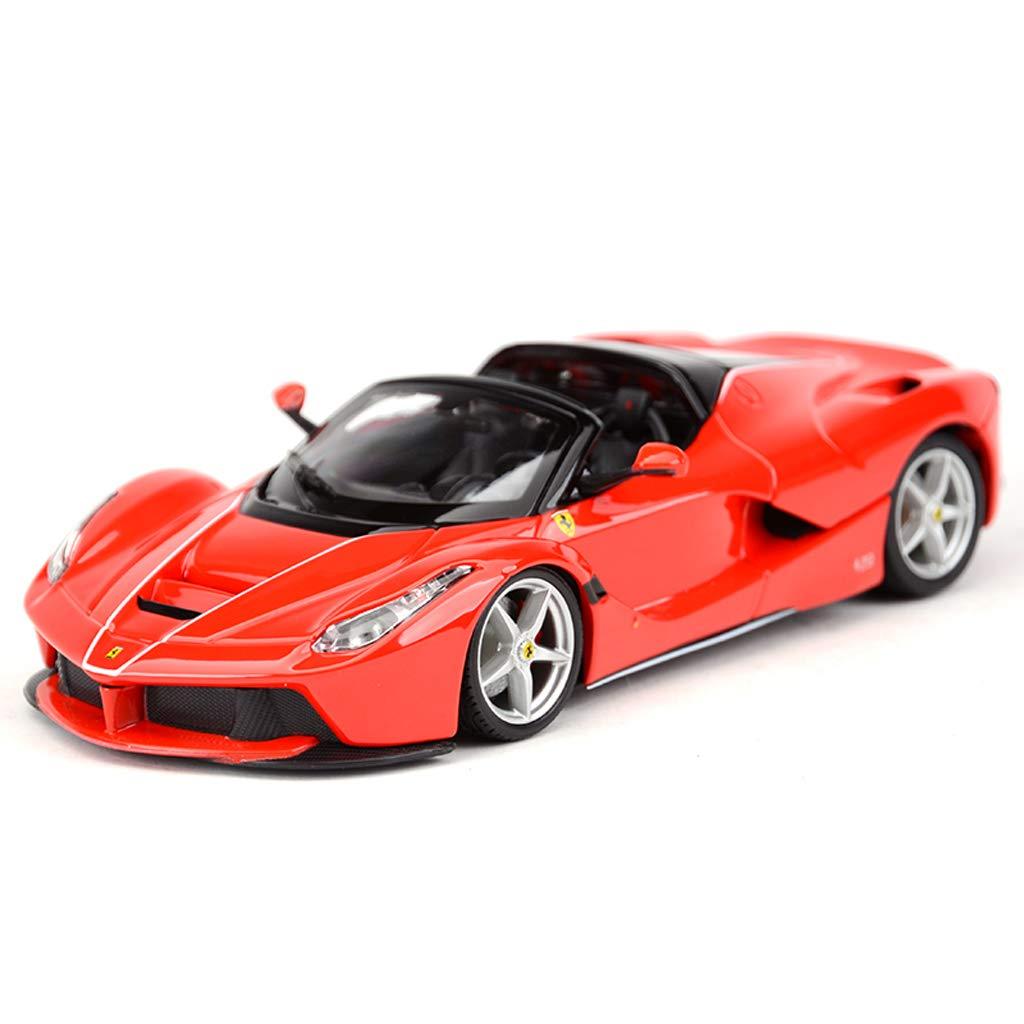 Red MUYB Car Model Die Casting Car 1 24 La Ferrari Congreenible LaFerrari Aperta Static Simulation Alloy Car Model (color   Red)