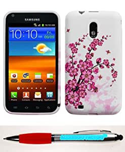 Accessory Factory(TM) Bundle (Phone Case, 2in1 Stylus Point Pen) SAMSUNG D710 (Epic 4G Touch Galaxy S II R760) Spring Flowers Candy Skin Cover