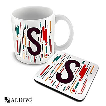 41050229eff Buy ALDIVO Alphabet Letter S Printed Combo Pack of Ceramic Coffee ...