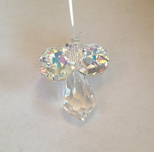 Angel Suncatcher, Swarovski Crystal, For Home And Car, Rearview Mirror - Clear