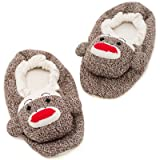 Think of It! Sock Monkey Slippers Size 4-6 Youth