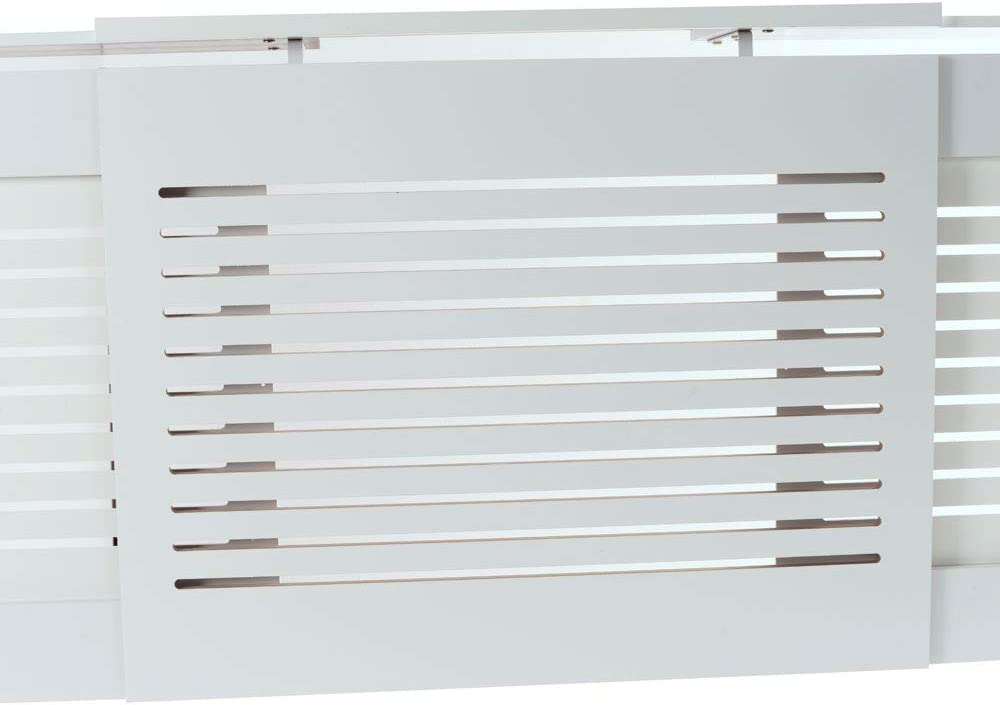 Exquisite E1 MDF Board Home Adjustable Radiator Cover White