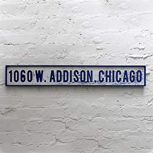 Wrigley Field Address Street Sign