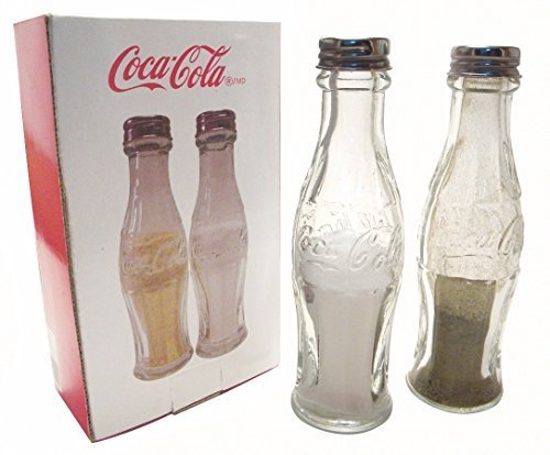 Retro Glass Coca Cola Bottle Salt And Pepper Shakers by Coca-Cola