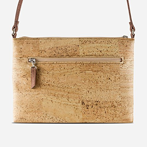 Bag Women from Vegan Front Marron Body Rouge Cork Pockets for Travel Brown Cross Corkor q4EIf