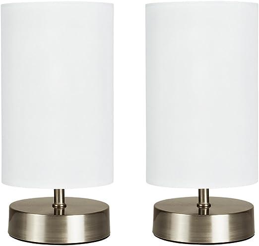MiniSun - Set de 2 lámparas de mesa modernas táctiles - Cilindras ...