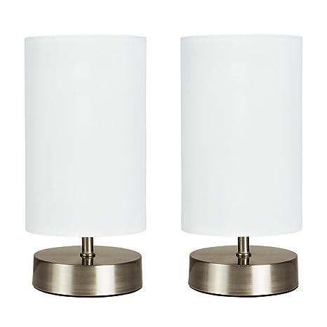 MiniSun - Set de 2 lámparas de mesa modernas y táctiles ...