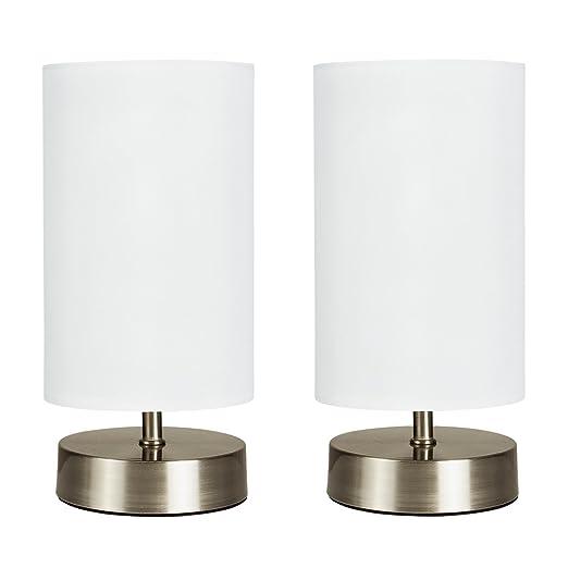 MiniSun - Set de 2 lámparas de mesa modernas táctiles ...